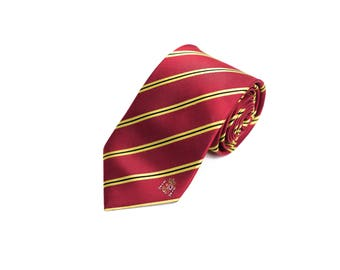Spain Tie - Inspired by the Spanish Flag with Personalized Tag. LDS Missionary. Husband Gift, Missionary Gift.