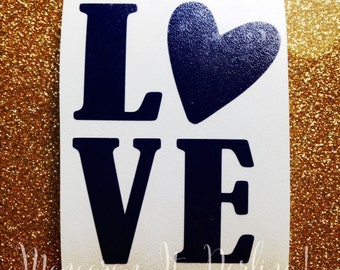 Love Decal // Heart Decal // I love You decal // Car Decal // Valentines Day Sticker // Valentines Day Decal // Sticker // Personalized