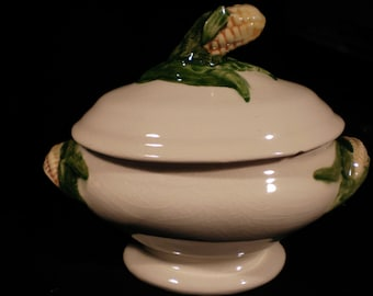 Set of two vintage corn soup Tureens
