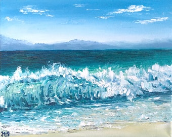 Seascape Paintings, Paintings on Canvas, Oil paintings, Paintings Original, Ocean, Sea, Beach, Wave, Wall Art, On Canvas,  Home Decor,