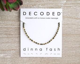 DINNA FASH - Morse Code Bracelet - Outlander Bracelet - Morse Code Jewelry - Outlander Jewelry - Outlander Fan