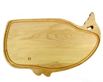 """A Large Whale Cutting Board - Maple - 17"""" x 11 1/2"""" x 7/8"""""""