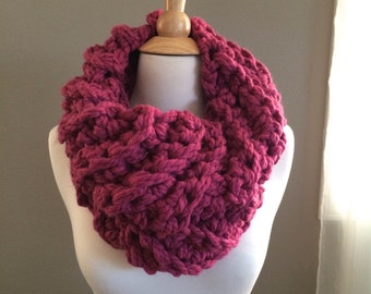 DIY Crochet Pattern: Cece's Cowl, Super Bulky Cowl, easy crochet P D F, chunky yarn, scarf, cowl, InStanT DowNLoaD