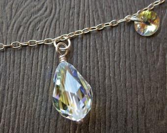 Crystal Teardrops Necklace