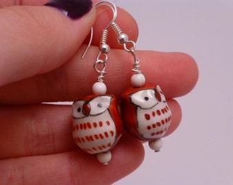 Owl Bead Earrings