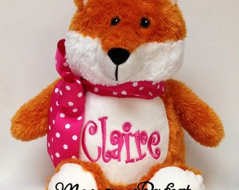 "Personalized 16"" Plush Fox Stuffed Animal"