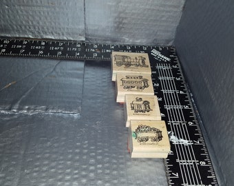 STAMPIN UP four stamps for a train