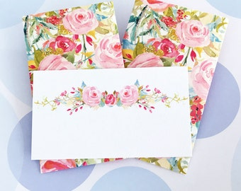 Mini Cards, Gift Enclosure Card, Mini Cards and Envelopes, Gift Card Holder, Set of 10