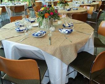 Burlap Overlay , Burlap Tablecloth, burlap table decor, burlap table overlay, Burlap Table clothes
