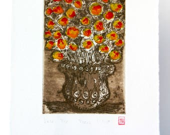 Vase - Original Etching