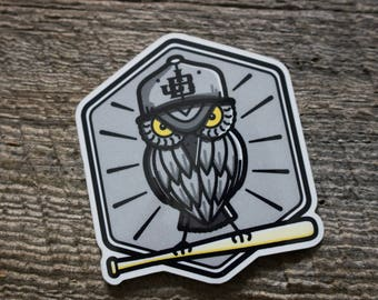 2 Sticker Pack - Baseball Owl