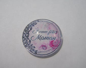 Cabochon in 18,20,25,30 mm round domed mother's day.