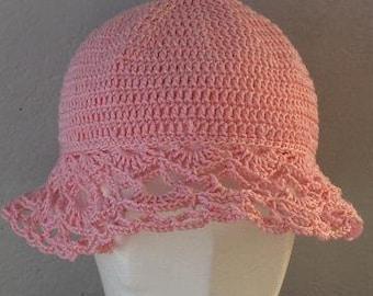 Crocheted hat, sunhat, summerhat, crochet for toddler, sunhat for toddler