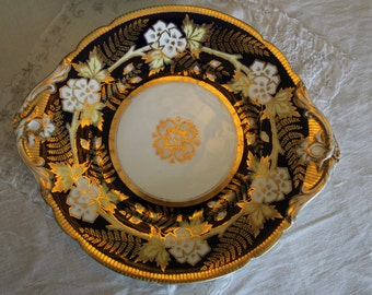 England: Antique cake plate with handles