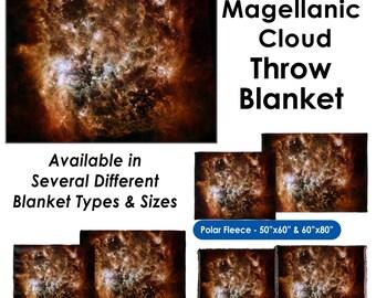 Magellanic Cloud - Throw Blanket / Tapestry Wall Hanging