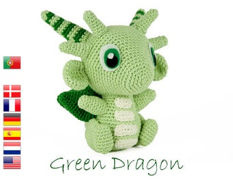 Crochet pattern Green Dragon