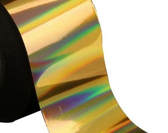 Gold Holographic No 16 - 1 metre length nail art crafting transfer foil