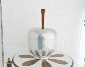 1960s Aluminum Apple Ice Bucket