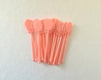 Vintage Drink Stirrers Pink Drink Sticks Swizzle Sticks Barware Kitsch 25
