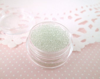 Clear Glass Micro Beads Sprinkle Toppings, 8 grams, E102
