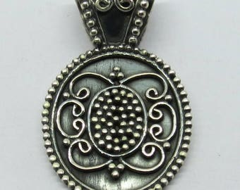"1 Piece 925 Sterling Silver Pendant Fine Worked 1.50"" Long"