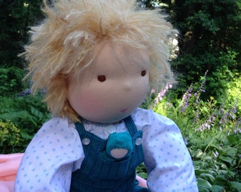 Deposit Weighted Custom Waldorf Baby Doll 17 - 18 inch Noble Doll Waldorf Inspired Doll