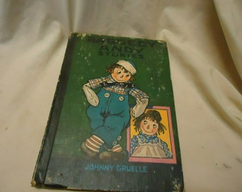 Vintage 1960 Raggedy Andy Stories Childrens hardback book by Johnny Gruelle, collectable