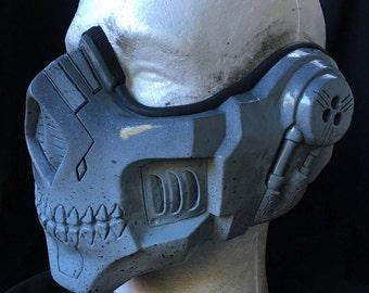 """Resin Half Mask """"Lich"""" Winter Grey"""