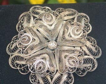 Mexico Filigree Brooch - Mexico, Intricate, Signed -  Free US Shipping - Vintage - Fabulous!