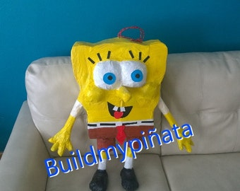 "Sponge bob piñata, 3D, 32"" tall."