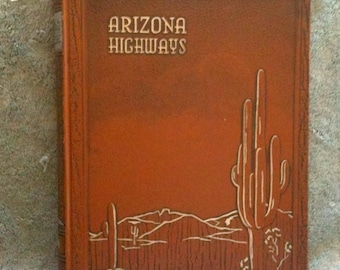 Arizona Highways 1959 Complete Year Bound Edition Leatherette Covers