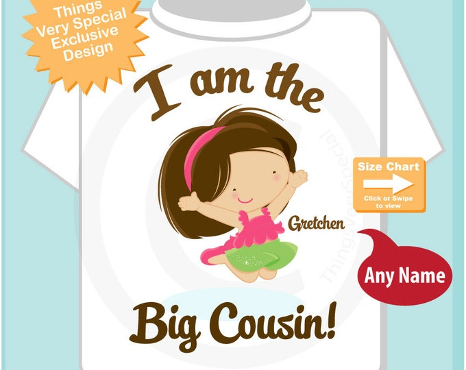 I am the Big Cousin Shirt - Pregnancy Announcement Big Cousin Tee Shirt or Onesie Outfit 03162016e