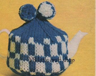 Tea cozy knitting pattern. Instant PDF download!