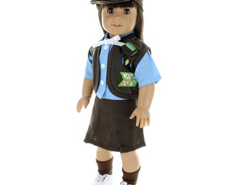 """Brownies Girl Scout Uniform for 18"""" dolls"""