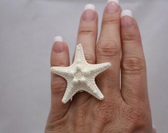 Starfish Ring, Beach Ring, Ocean Jewelry, Starfish Jewelry, Boho, Adjustable Ring, Nautical Wedding, Ocean Ring Mermaid Jewelry Mermaid Ring