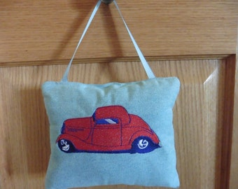 Tooth Fairy Pilow with embroidered car