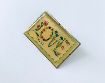 LOVE postage stamp pin