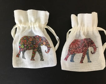 Gift pouches, elephants