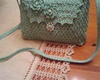 Green Crochet Handbag
