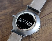 Best Dad Watch, Mens Gift Wood Watch, Husbands Gift - CSTM-HELM-RS