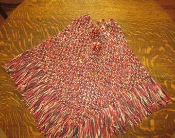 Crocheted Poncho Teen/Adult