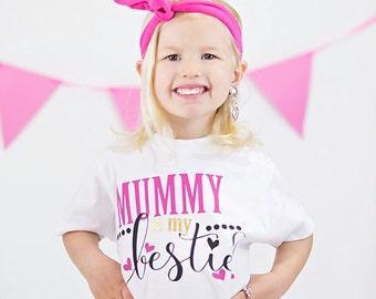 Besties Shirt - Mummy and Me Shirt - Glitter Mummy Best Friend Shirt - BFF Shirt  - Mommy and Me Shirt - Mummy Daughter Tee
