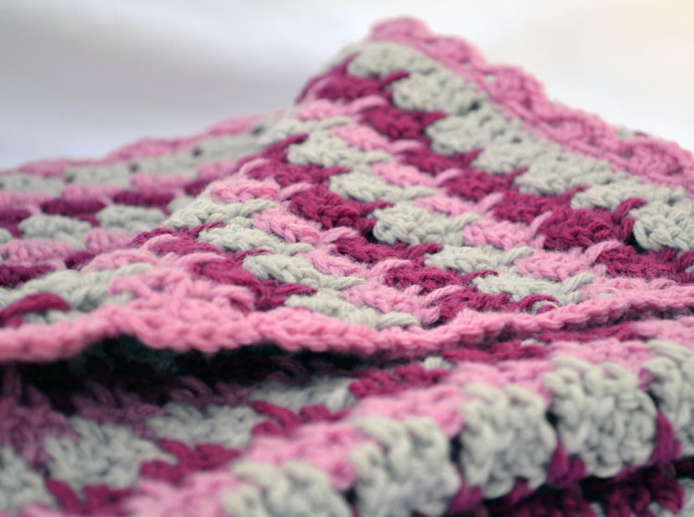 Regen-Tropfen-Pink häkeln Baby-Decke strukturierte Foto Prop