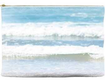 Makeup Bag - Accessory Bag - Cosmetic Bag - Ocean Pouch - Blue and White Bag - Zipper Pouch - Purse Organizer - Make up Bag - Pencil Case