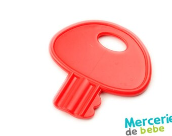 Red decorative element - shaped key - C16 - R5