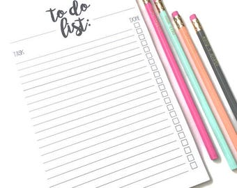 To Do List Notepad // To Do List // To Do Notepad // Column To Do List // Chore Notepad // Magnetic Notepad // To Do Checklist / Get It Done