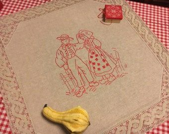 Centerpiece Tablecloth Red Alsace placemat