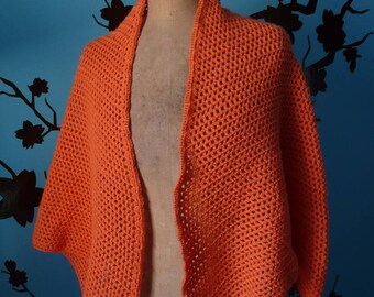 orange crochet shawl