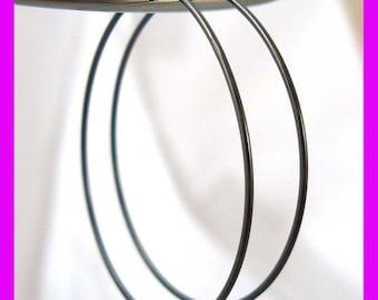 oxidized black 925 Sterling Silver beading hoop earrings EarWires Ear wire 30mm 10 pcs  E56-30