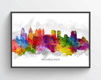 Philadelphia Skyline Poster, Philadelphia Cityscape, Philadelphia Decor, Philadelphia Art, Home Decor, Gift Idea, USPAPH13P